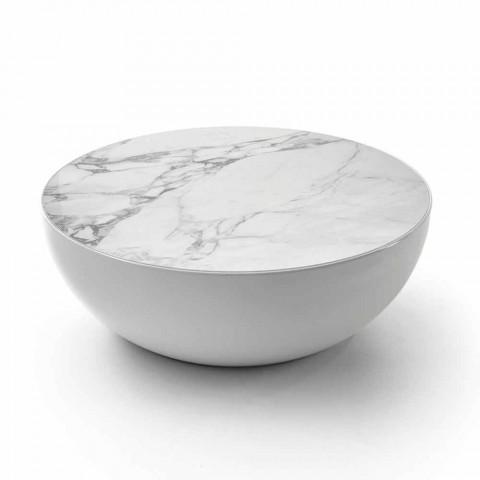 Bonaldo Planet masă de design ceramică Calacatta făcută în Italia