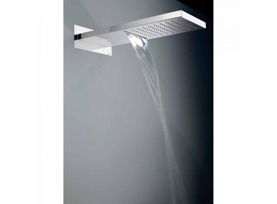 Bossini Manhattan showerhead din oțel inoxidabil cu două jeturi