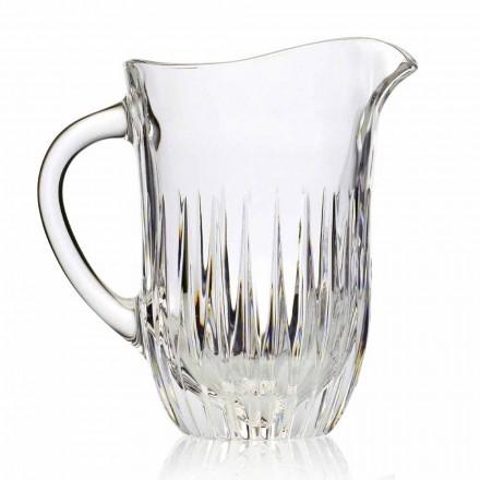 Vas de cristal Eco cu decor artizanal, lux italian, 2 bucăți - Voglia