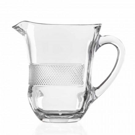 Vas de sticlă din cristal ecologic decorat de lux, 2 bucăți - Milito