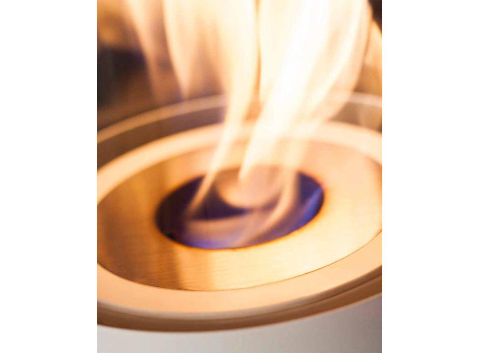 Arzător circular din oțel satinat pentru șemineu cu bioetanol - Griff12