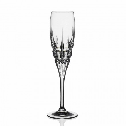 Pahar cu flaut de cristal pentru șampanie în cristal ecologic 12 bucăți - Fiucco