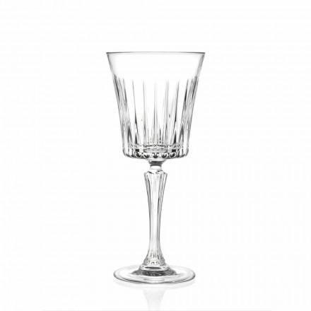 Design de pahare de vin și cocktail de lux în cristal ecologic 12 bucăți - Senzatempo