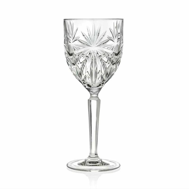 12 bucăți Pahare ecologice de vin sau apă de cristal - Daniele