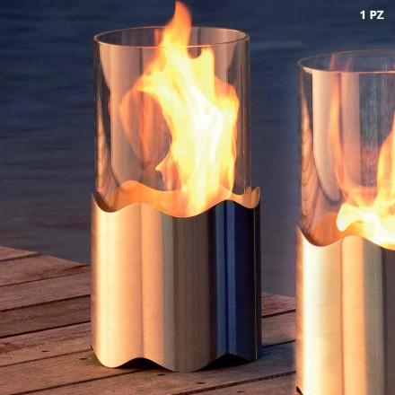 Semineu bioetanolului din oțel inoxidabil și masă de sticlă Leon