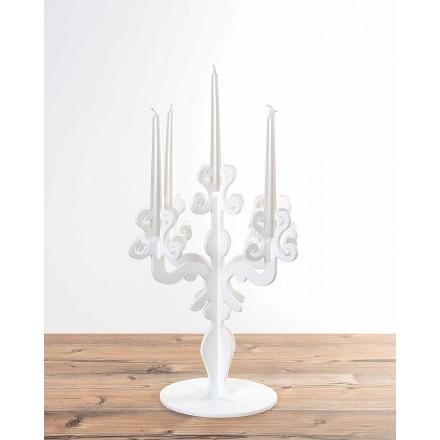 Renascentist design de lumânare înalt deținător, 5 brațe din plexiglas, Aragona