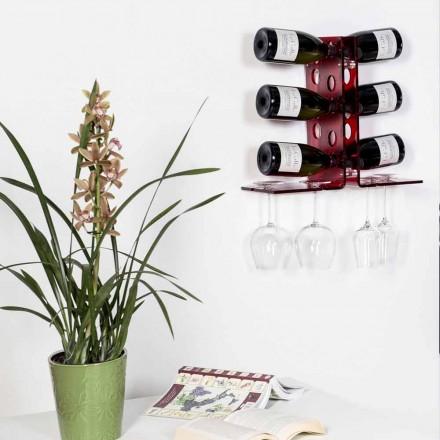 sticle Crama Luna ușă roșie de perete, design modern