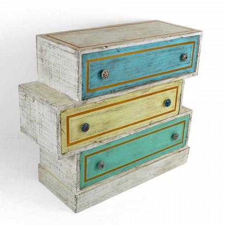 Comoda cu sertare colorate și butoane din ceramică Made in Italy - Hendriks