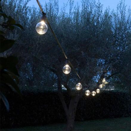 Cablu exterior din neopren cu 8 becuri LED incluse Fabricat în Italia - Petrecere