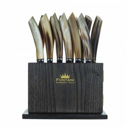 Bloc magnet cu lemn de măslin și castan din 12 Fabricat în Italia - Bloc