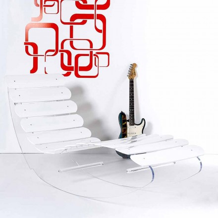 Chaise Design longue plexiglass Josue made in Italy