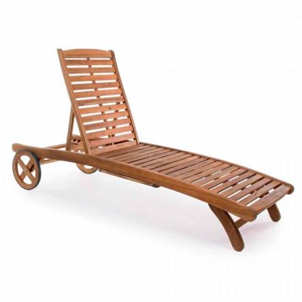 Scaun de grădină de grădină în lemn cu roți de design pentru exterior - Roxen
