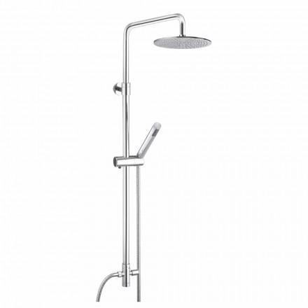 Coloana de duș cu secțiune rotundă din alamă cu duș de mână Made in Italy - Amadeo