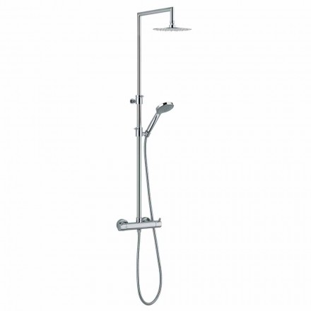 Coloana de duș cu deviator integrat din alamă cromată Fabricat în Italia - Griso
