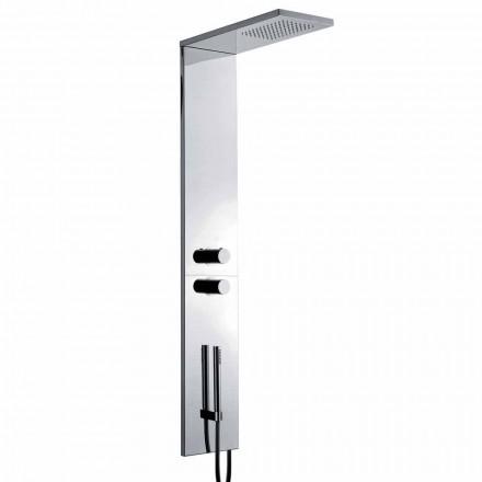 Coloană de duș termostatică din oțel inoxidabil cromat Fabricat în Italia - Pampo