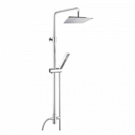 Coloana de duș din alamă cu cap de duș și duș de mână în Abs Made in Italy - Lesio