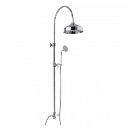 Coloana de duș din alamă cu cap de duș și duș de mână ABS Fabricat în Italia - Rimo