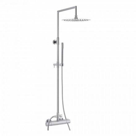 Coloană de duș din alamă cu cap de duș rotund ultrathin Made in Italy - Merio