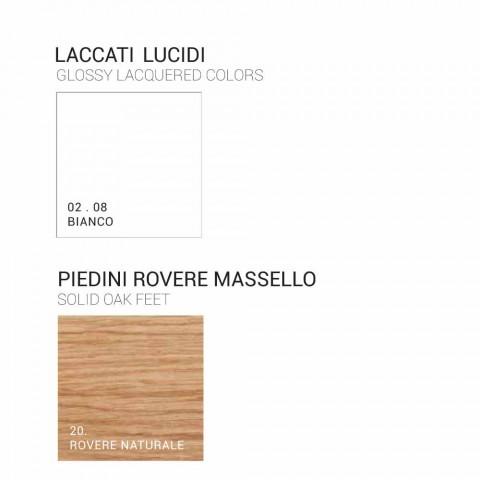 Amanda cabinet de baie din lemn cu 2 usi, design modern, fabricat in Italia