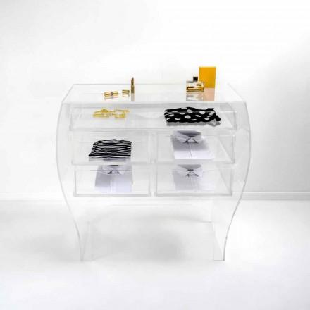Piept 5 sertare design modern plexiglass Billy