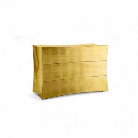 Comodă 3 sertare MDF design modern, realizate în Italia, Isidoro