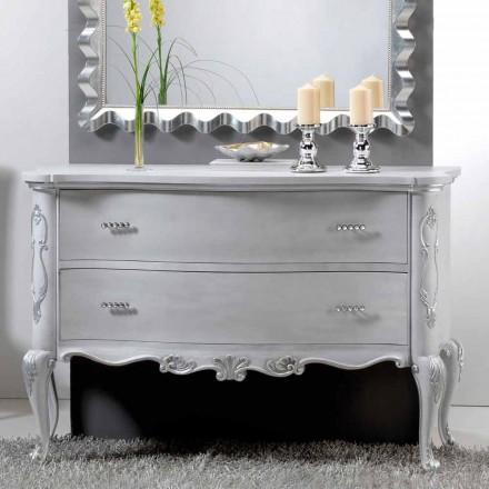 Dresser design clasic si lemn masiv mânere oase de cristal