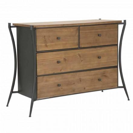 Proiectare sertar cu 5 sertare din brad și fier - Doran