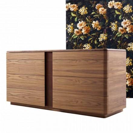 Mese din lemn masiv și piele de design Grilli York fabricate în Italia