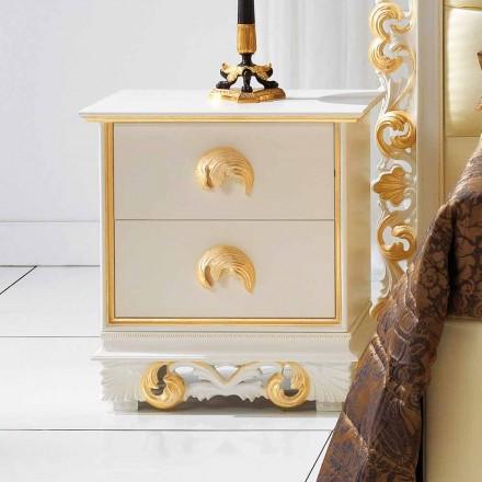 proiectare noptieră din lemn cu 2 sertare Zucchi, realizate în Italia