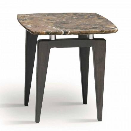 Noptieră din marmură cu structură din lemn, de înaltă calitate Made in Italy - Raise