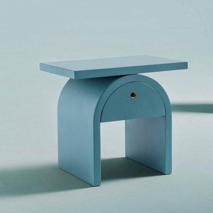 Noptieră de design modern din lemn colorat pentru dormitor - Arcom