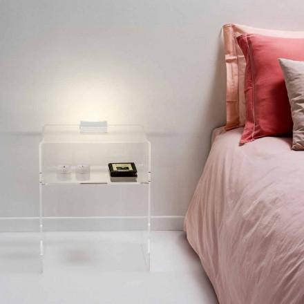 Noptieră cu lumină transparent cu LED-uri iluminate tactil Adelia