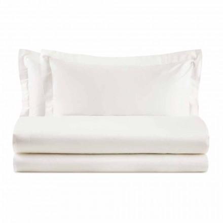 Set elegant pentru pat dublu din bumbac colorat satinat - Violetta