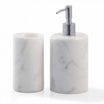 Accesorii pentru baie compozite din marmură albă Carrara Fabricată în Italia - Tuono