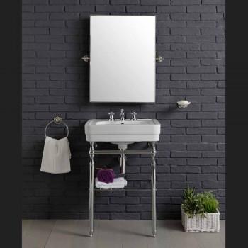 Compoziție mobilier baie cu frumusețe structura metalica chiuveta