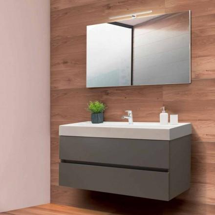Dulap de baie de 120 cm, oglindă și lavoar - Becky