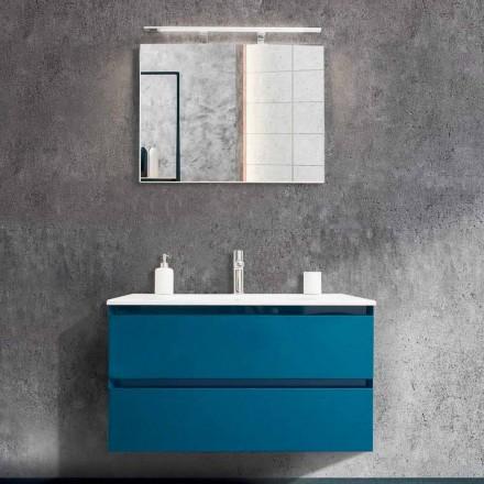 Dulap de baie 90 cm, Lavabo modern și oglindă - Becky