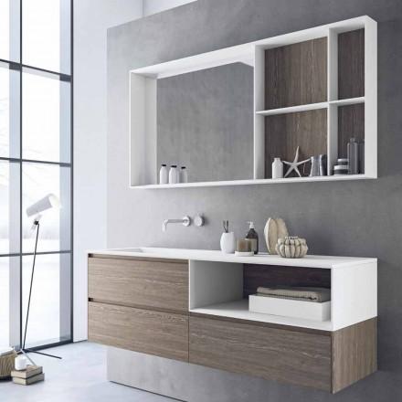 Compoziția mobilierului de baie, design modern și suspendat Made in Italy - Callisi8