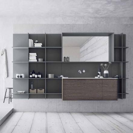 Compoziție mobilă de baie suspendată și modernă, mobilier de design - Callisi12
