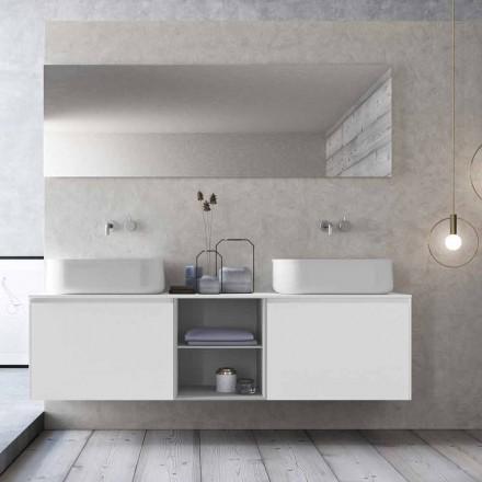 Compoziție de baie suspendată cu design modern Made in Italy - Callisi14