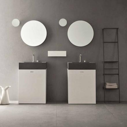 Compoziția podelei mobilierului de baie cu design modern - Farart10