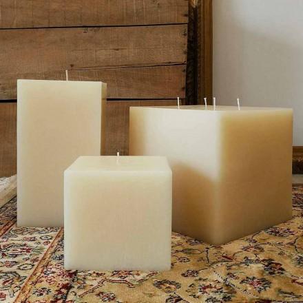 Compoziția lumânărilor pătrate de ceară fabricate în Italia, 3 bucăți - Mondelle