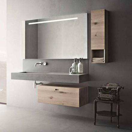 Compoziție de design pentru mobilier modern suspendat de baie Fabricat în Italia - Farart2