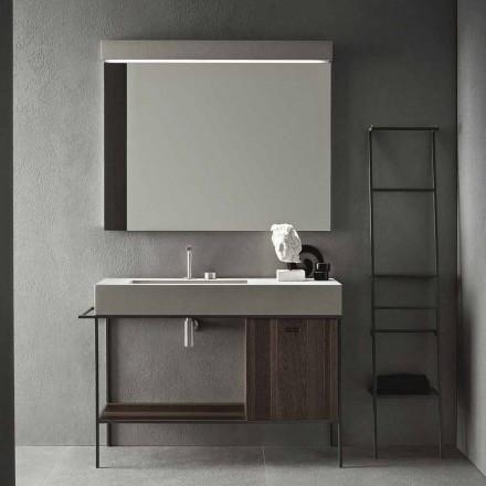 Compoziția mobilierului realizat manual pentru baie modernă la sol - Farart3