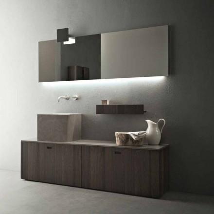 Compoziție de mobilier de baie la sol cu design modern - Farart1