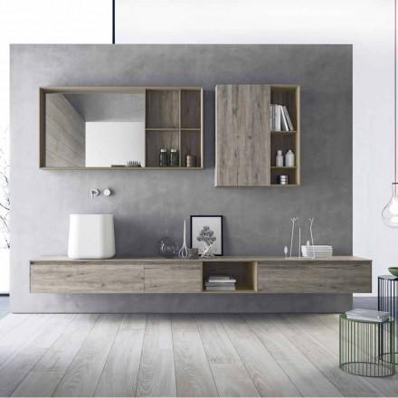 Compoziția mobilierului de baie modern, design suspendat Fabricat în Italia - Callisi6