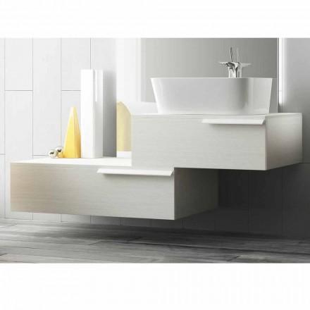 Fericit moderne, lacuite din lemn, suspendate, compoziția de mobilier de baie
