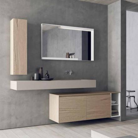 Compoziție mobilă de baie modernă și suspendată, Design Made in Italy - Callisi1