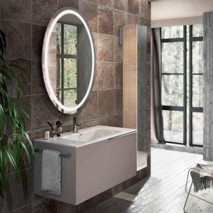 Compoziția mobilierului de baie suspendat în designul genovei