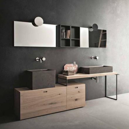 Compoziție modernă de baie a mobilierului de design de sol Made in Italy - Farart6